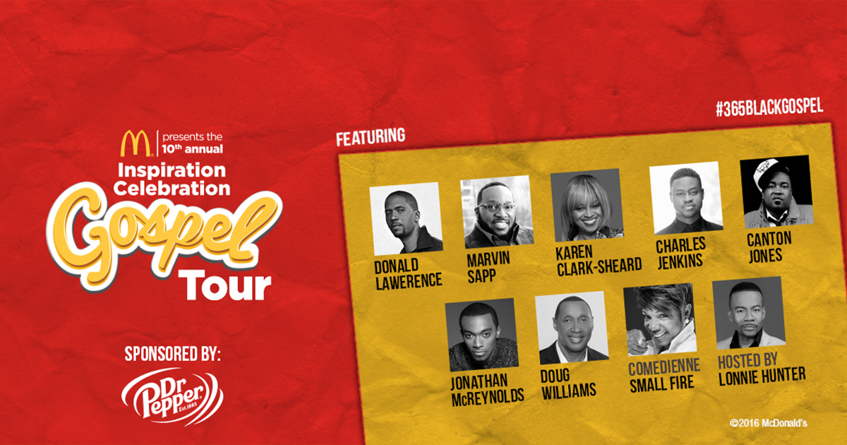 McDonald's presents the 2016 Inspiration Celebration Gospel Tour