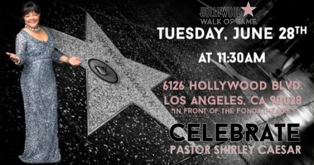 Shirley Casar on the Walk of Fame